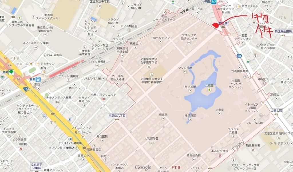 本件物件地図(GoogleMapより)
