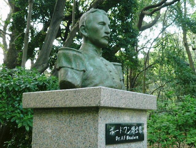 ボードウィン博士像(上野公園)