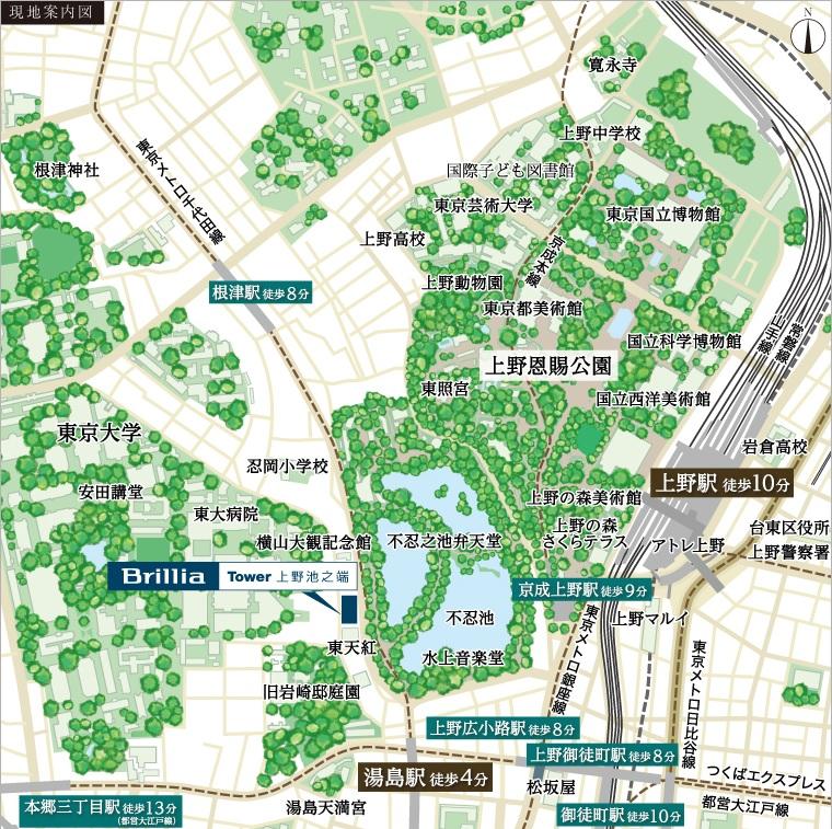 池之端地図
