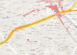 グランツオーベル南平台地図(Googlemapより)